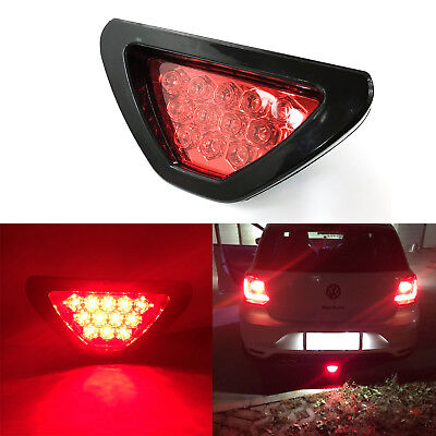 Car SUV Red 12-LED F1 Racing Style Stop Brake Light Add-On 3rd Tail Flasher Lamp