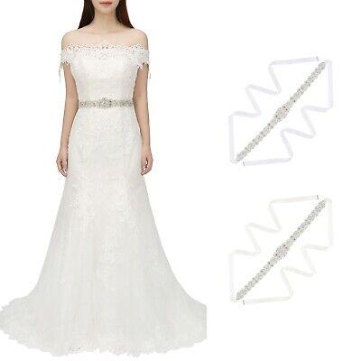 Rhinestone Bridal Belt Sash Crystal Wedding Sash Belt for Wedding Dress Gown](Sash Belt)