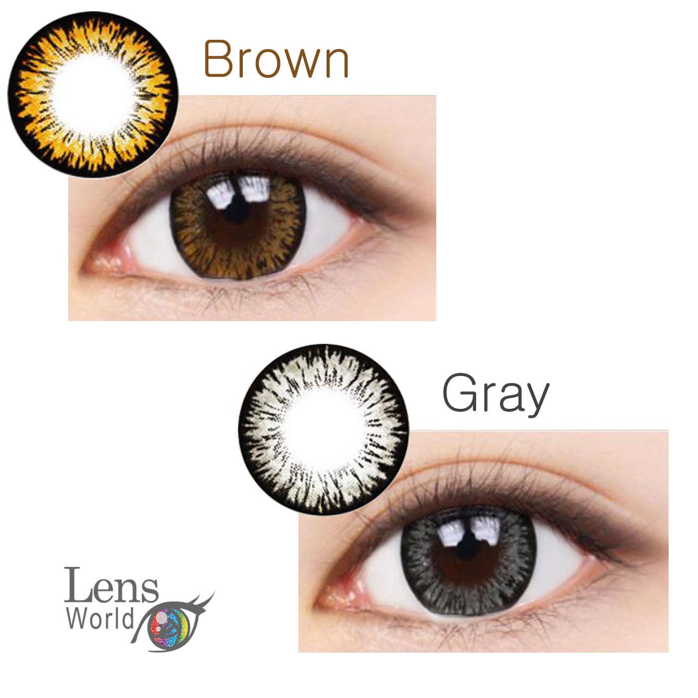 Brown Gray Farbige Kontaktlinsen Love Cat Brown Gray Korea Color Contact Lenses