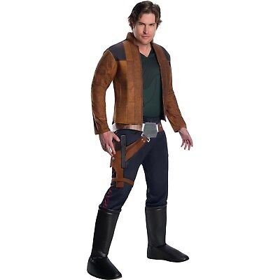 Star Wars HAN SOLO Halloween Costume Adult Mens S L large Cosplay Movie - Movie Star Costumes Halloween