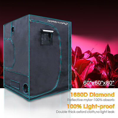 Mars Hydro 5'x5' Indoor Grow Tent Plant Room 1680D Reflective Mylar Hut Home Box