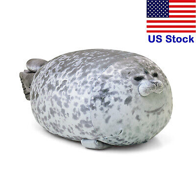 30cm Chubby Blob Seal Plush Animal Toy Cute Ocean Animal Pillow Stuffed -