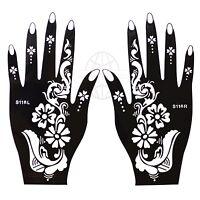 Henna Plantilla Presentación Airbrush Tattoo De Izquierda Y Mano Derecha S116 -  - ebay.es