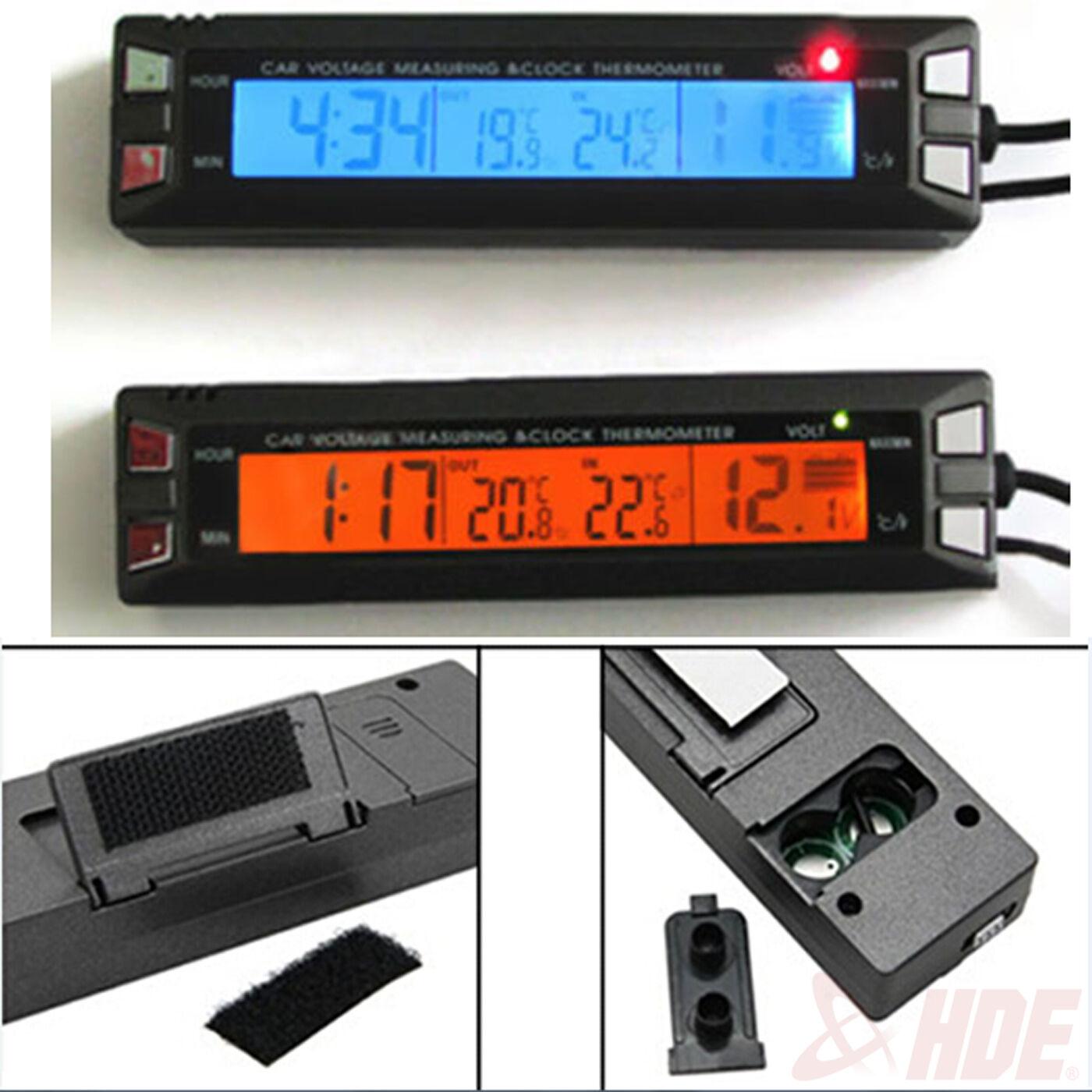 Car Auto Lcd Digital Clock Thermometer Temperature Voltage
