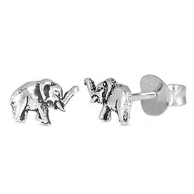 Small Elephant Stud 925 Sterling Silver Post Children Women Earrings