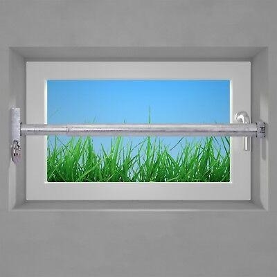 Fenstersicherung Sicherungsstange Einbruchschutz verzinkt 1Fach 1000-1700mm