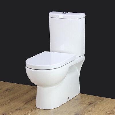 Toilet WC Close Coupled Square bowl cloakroom new Seat Dual Flush Bathroom 171KL