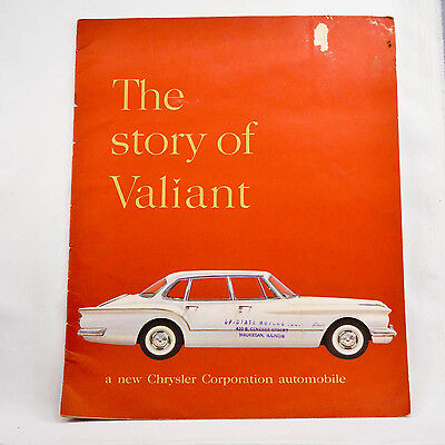 Colored Sales Brochure - The Story Of Valiant 1960 Classic Car Advertising