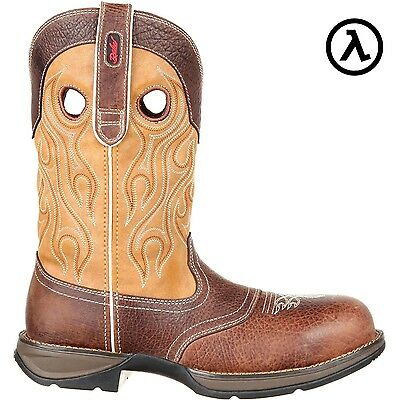 Rebel By Durango Composite Toe Wtrpf Saddle Western Boots Ddb0123   Sale