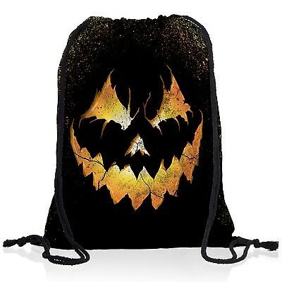 Halloween Kürbiskopf Rucksack Sportbeutel Turnbeutel Beutel kostüm fasching - Kürbis Kopf Halloween Kostüm