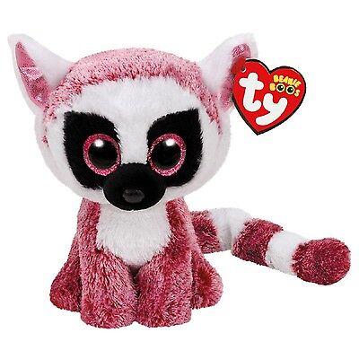 "Ty Beanie Boos ~ LEEANN the 6"" Lemur ~ Stuffed Plush Toy (BRAND NEW) 2017 Design"