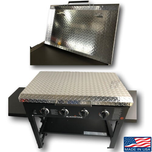 """Diamond Plate Aluminum Lid Storage Cover for 36"""" Blackstone Griddle Made in USA"""