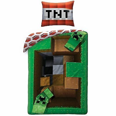 Minecraft Kriecher Ebene Einzelbettbezug Set 100/% Cotton Europäisch Größe