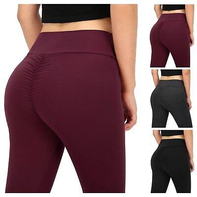 Women's Sexy Butt Lift Capri Leggings Scrunch Butt Shaping Yoga Pants Push Up