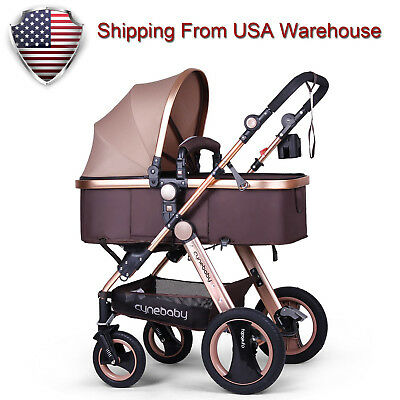 USA Ship Compact Baby Stroller Pushchair Folding Anti-shock Pram Buggy Carriage
