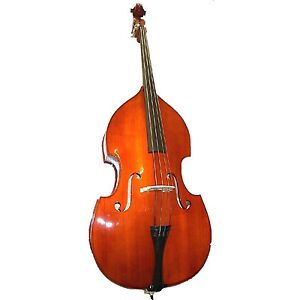 New 4/4 3/4 1/2 1/4 Upright Double Bass,Bag,Bow in Black,White,Red,Blue,Natural