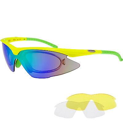 Radbrille Sportbrille für Brillenträger mit Optik-Clip für Sehstärke