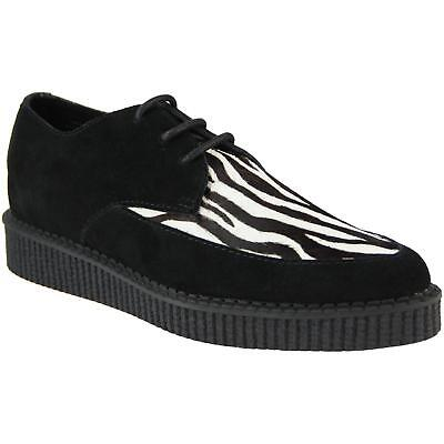 NEW MADCAP MENS MOD ROCKABILLY 50s MODS BLACK ZEBRA CREEPERS SHOES ROCKET 32403](50s Shoes Mens)
