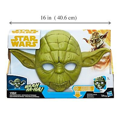 Star Wars The Empire Strikes Back Yoda Electronic Mask NEW DAMAGED BOX - Yoda Masks