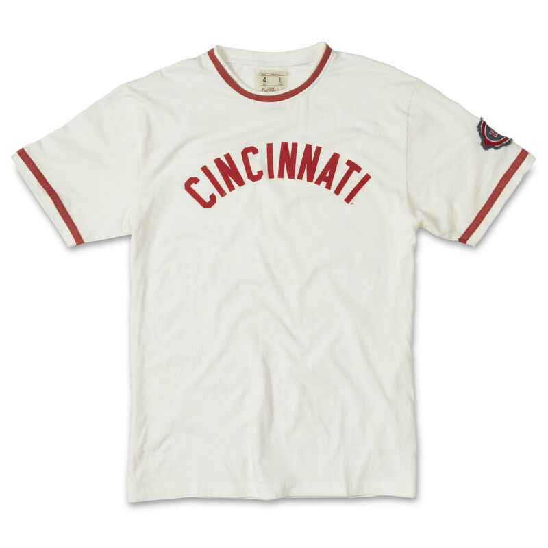 American Needle Remote Control MLB T-Shirt-Cincinnati Reds-White-Large