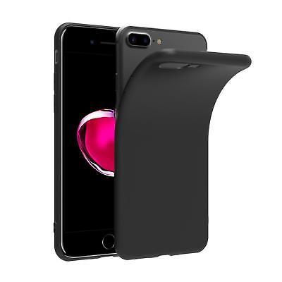 Ultra Slim Case iPhone 7 Plus Handy Hülle Schutzhülle Silikon Schwarz Tasche