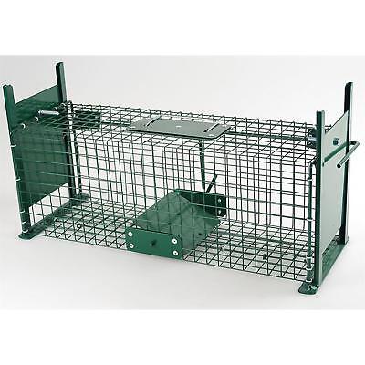 Ratten-Lebendfalle Hasenfalle Marderfalle Metall mit 2 Eingängen, grün ()
