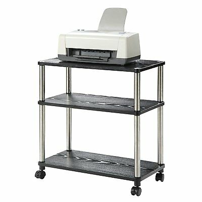 Office Printer Equipment Cart Computer Stand Rolling Laptop Table Shelf Station