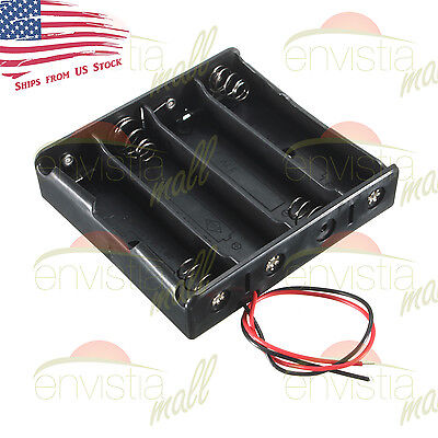 4X Series 18650 Li-Ion Battery (~15V) Holder Case Clip Box with 6