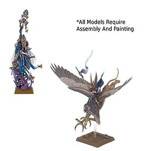 Warhammer High Elf Prince on Griffen + High Elf Mage From Island of Blood - New