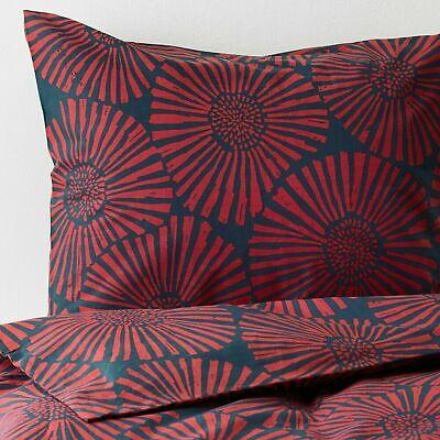 NewIkea STJARNTULPAN King Duvet Cover Set w/2 Pillowcases Dark Blue, Red