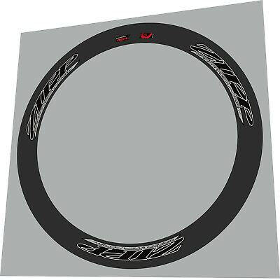 ZIPP 404 2012 SPEED WEAPONRY LIME GREEN OUT REPLACEMENT RIM DECAL SET FOR 2 RIMS