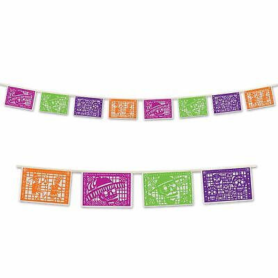 Day of the Dead Picado Style Pennant Banner
