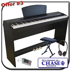 Chase P45 Digital Portable Stage Piano 88 Hammer Action Keys Wooden Stand