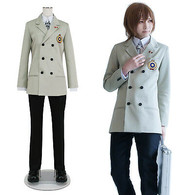Persona 5 P5 Goro Akechi School Uniform Suit Cosplay Costume Outfit Customize](Costume P)