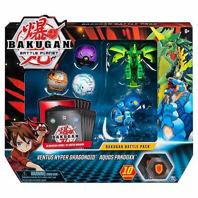 Bakugan Battle Pack 5-Pack, Ventus Hyper Dragonoid, Aquos Pandoxx, Wave 7 Bakugan Battle Pack