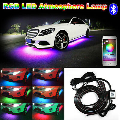 Phone Control RGB LED Car Under Underbody Car Neon Light Chassis Atmosphere -