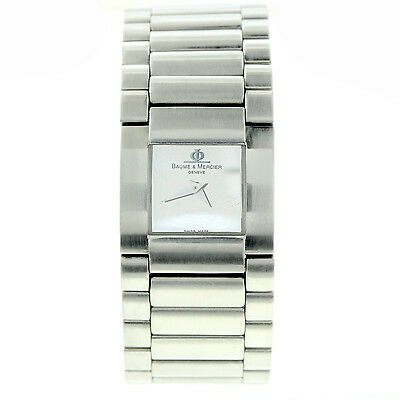 BAUME MERCIER CATWALK MIRROR DIAL LADYS 100M MV045197 STAINLESS STEEL NICE COND