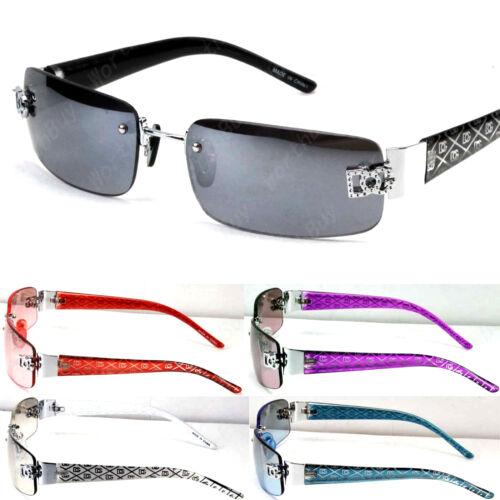 Mens Womens Sunglasses Designer Shades Fashion Rimless Rectangular Wrap Around