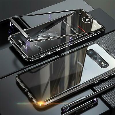 Hülle (Hülle Magnet Schutzhülle Glas Scheibe Handy Tasche Case Metall Cover S10 P30 Pro)