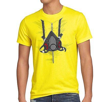 Gasmaske T-Shirt Herren bad breaking karneval kostüm fasching meth chrytal tv  (Meth Breaking Bad Kostüm)