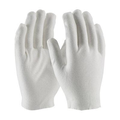 Pip White Cotton Lisle Inspection Work Gloves Coin Jewelry Lightweight 12 Pr