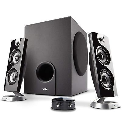 PC Gaming Speaker Sound System with Subwoofer and Control Pod Mac Laptop...