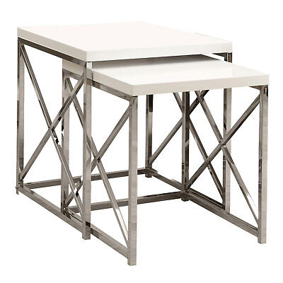 Monarch Specialties Nesting Snack Side End Table 2 Pc Set