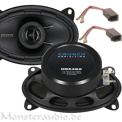 """Crunch DSX-462 4x6"""" Koax Auto Lautsprecher Set oval paar Porsche VW Fiat"""