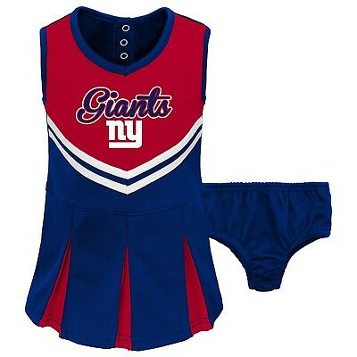 Jumper Bloomers (New York Giants NFL Baby Toddler Girl Cheerleader Jumper/Bloomers 18 Mo. - NWT)