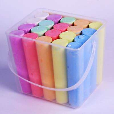 Giant Chalks Sticks Outdoor Sidewalk for Kids Assorted Colours Pack of 20