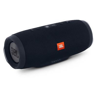 JBL Charge 3 Waterproof Portable Bluetooth Speaker Black + Box