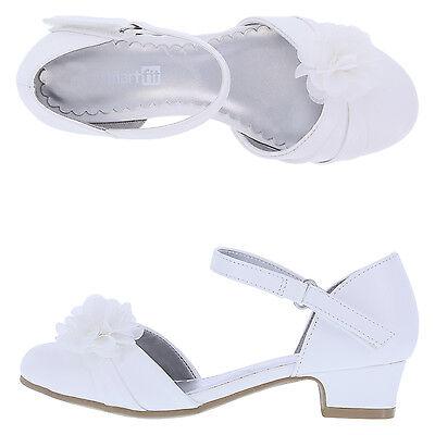 Girls' Toddler Cici Chiffon Flower Wedding Dress Shoes Heeled White Ivory - Ivory Dress Shoes Toddler