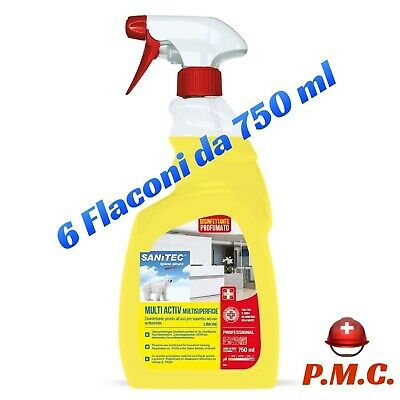 6 pz x Disinfettante superfici sanitec multiactiv spray 750 ML presidio medico