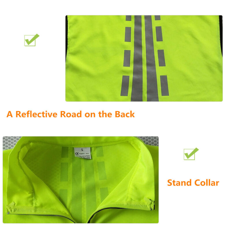 High Visibility Cycling Vest Reflective Vest for Night Running with Safety Bands